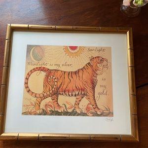 Other - Tiger Moonlight Silver Sunlight Gold Print Framed